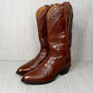 Tony Lama Leather Western Cowboy Boots 9 EE